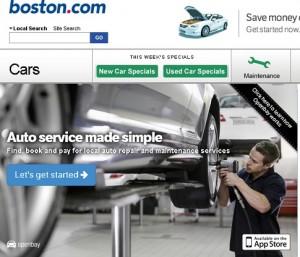 Boston.com/cars, click on Maintenance