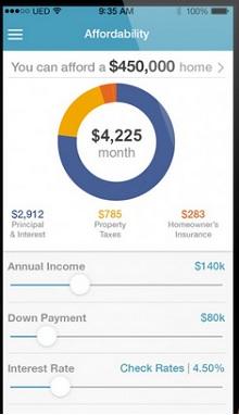 realtor.com affordability mobile app