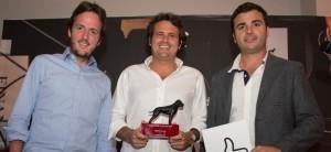 Navio (left) & Urdiales (center) accept their award
